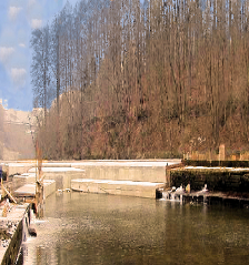 Traunkraftwerk Gschröff Wehranlage